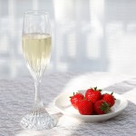 シャンパンとイチゴ